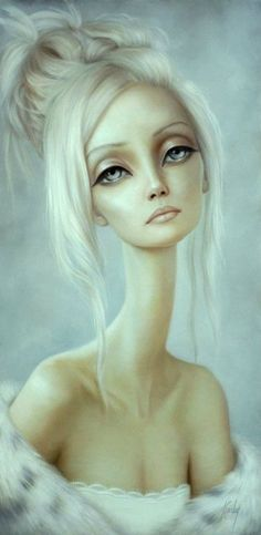 Surrealist figurative paintings by Lori Earley Illustrates Beautiful Women with Extra Long Necks (GALLERY)