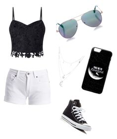 """Untitled #5"" by evelira on Polyvore featuring Barbour International, Converse, Cutler and Gross, Charlotte Russe and Lipsy"