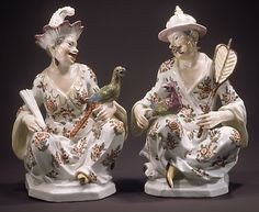 Chinese Couple, ca. Fine Porcelain, Porcelain Ceramics, Porcelain Jewelry, Chinoiserie, Dresden China, Old Paris, Chinese, Art Sculpture, Antique China