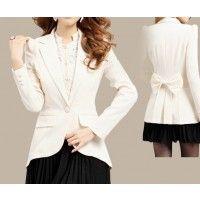 Slim Dovetail Back Bow Women's Jacket Suit