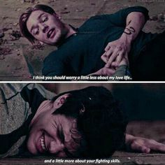 Jace and Alec training. Shadowhunters episode 2x11