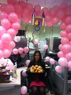 The 20 Best Ideas for Office Birthday Ideas Cubicle Birthday Decorations, Office Party Decorations, Office Christmas Decorations, Office Themed Party, Office Holiday Party, Kitchenaid Artisan Stand Mixer, Pretty Halloween, Work Desk, Cool House Designs