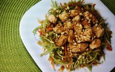 Better than take out: Asian Chicken and Vegetables with Spicy Peanut Sauce
