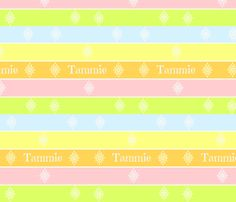 Lined Up in Pastels-tangerine-Personalized fabric by drapestudio on Spoonflower - custom fabric - http://www.spoonflower.com/designs/3975766