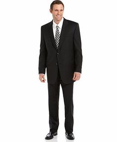 Lauren By Ralph Lauren Suit Separates, Black Solid Big and Tall - Suits & Suit Separates - Men - Macy's