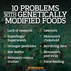The debate over the safety of genetically modified foods has been raging for almost two decades, when GMO foods were first introduced to the public in the early 90s. Read more: http://wallstcheatsheet.com/life/10-problems-with-genetically-modified-foods.html/?a=viewall#ixzz32IEKYAr7 #GMOs #list #stopmonsanto