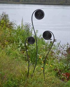 Large Fiddlehead Fern Garden Stakes-Set/3