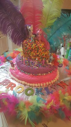 Cake I made for my Granddaughter Birthday. 4th Birthday, Birthday Cake, Cupcake Cakes, Cupcakes, My Little Pony Party, Yummy Food, Entertaining, Meet, Birthday Cakes