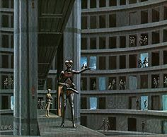 Ralph McQuarrie's Battlestar Galactica concept art Ralph Mcquarrie, Fiction Movies, Science Fiction Art, American Psycho 2, Alex Pardee, Landscape Concept, Arkham City, Pop Culture Art, Battlestar Galactica