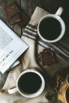 Coffee, Choclate, and books.  Indulgence.