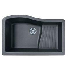 "Swanstone QUAD-3322 Ascend 32"" Single Basin Undermount Quartz Kitchen Sink"