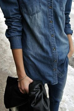 c7f97d462e2b Denim on denim. Denim Fashion