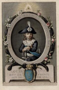 Louis-Charles, the unfortunate son of Marie Antoinette and Louis XVI.  Separted from his mother, dying of tuberculosis, this little prince suffered greatly.  Read more on: Titillating Tidbits About the Life and Times of Marie Antoinette