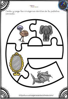 Aprendemos las vocales con este divertido puzzle - Imagenes Educativas Interactive Activities, Alphabet Activities, Book Activities, Alphabet Worksheets, Preschool Worksheets, Preschool Activities, Sewing Stuffed Animals, Bilingual Education, Classroom Rules