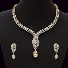Diamond Necklace Set (137A8675-139A14689) | Vummidi Bangaru Jewellers