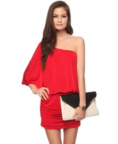 My Valentine's day dress :) asymmetrical and ruched seams. $20 from Forever21!