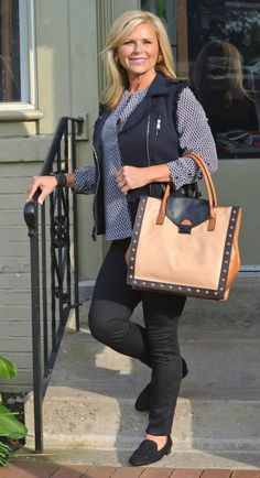 Going shopping? A vest with skinny jeans is an easy look.l Fabulous After 40