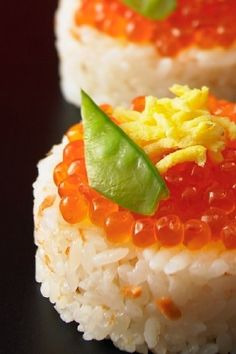 Grilled Salmon and Ikura Roe Omusubi, Japanese Rice Ball|鮭いくら おむすび