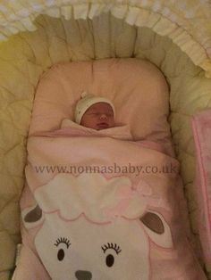 """Annie is cute as a button in her Cotton Candy Nap Mat! Mummy Elaine commented """"She is so comfy and snug in her Mat. She is 5 days old when that picture was taken this morning so delighted with it"""" Nonna is delighted! :-) • Find out more about Nap Mats:https://nonnasbaby.co.uk/baby-nap-mats/"""