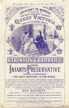 This infant preservative from 1872 Contained um opium 25 Health Products Youll Be Glad You Dont See Today Vintage Labels, Vintage Ads, Vintage Posters, Creepy Vintage, Coca Cola, Old Medicine Bottles, Old Advertisements, Advertising, Conservation