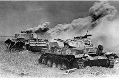 Destroyed German Tanks after the Battle of Kursk, 1943
