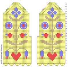 Схемы варежек: 14 тыс изображений найдено в Яндекс.Картинках Knitted Mittens Pattern, Knit Mittens, Mitten Gloves, Knitting Charts, Knitting Stitches, Knitting Socks, Fair Isle Knitting, Pattern Library, Tunisian Crochet