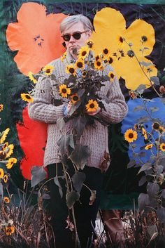 We interrupt #WarholWednesday to bring you this William John Kennedy photo of Warhol & flowers. Happy Earth Day.Untitled (Warhol Flowers I)William John Kennedy1964/2012