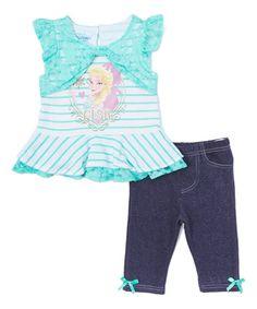 Turquoise Frozen Tunic & Leggings - Toddler #zulily #zulilyfinds