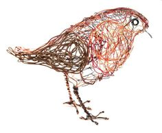 Make your own wire robin sculpture
