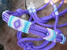 Beaded Rope Halter Horse Tack Horse Halter by HorsetailsBeadwork, $69.00