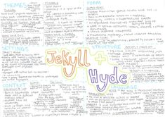 revision-mind-map-jekyll-hyde English Gcse Revision, Gcse English Literature, Education English, Jekyll And Hyde Themes, Jekyll And Mr Hyde, Revision Notes, Study Notes, Learn French, Learn English