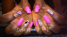 Pink Black amd white