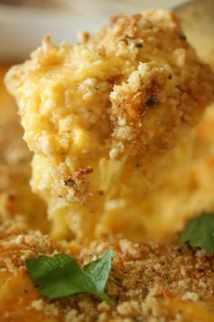 Spaghetti Squash Baked Mac and Cheese!   {Clean Eating, Gluten Free, Grain Free, Low Carb, High Protein}