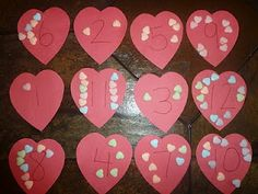 Candy heart counting. Could also use Vday M Heart math for preschool & Kindergarten