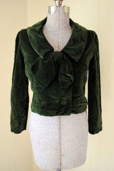 Inspiration for the silk velvet - Green Velvet Jacket