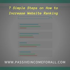 How To Increase Website RankinG Website Ranking, Affiliate Marketing, Insight, Social Media, Let It Be, Education, Simple, Easy, Social Networks