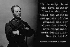 """General William Tecumseh Sherman    General William Tecumseh Sherman served as a colonel for the Union army at the outbreak of the Civil War. When Ulysses S. Grant was made commander of all United States Armies, he promoted Sherman to commander of the Western theater. Sherman is best known for his """"scorched earth"""" march to the sea, where he drove his forces across Georgia from Atlanta to Savannah, living off the land and destroying everything in sight. Photo: Marion Doss/Creative Commons"""