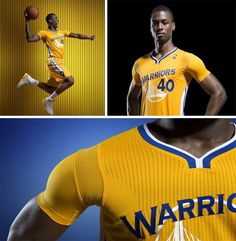 Golden State's new alternate uniforms with sleeves!