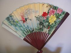 Chinese Fan marked People Republic of China by prissyantiques, $12.00
