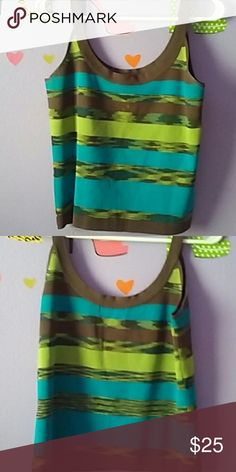 Aztec sweater tank top Has x design and like a Aztec style to it Valerie Stevens Tops Tank Tops