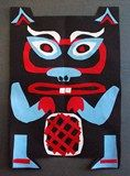 Check out student artwork posted to Artsonia from the NorthWest Coast Totems project gallery at Alum Creek Elementary School. Inuit Kunst, Inuit Art, Native American Crafts, American Indian Art, Animal Masks For Kids, 30 Day Art Challenge, Animal Art Projects, Jr Art, 4th Grade Art