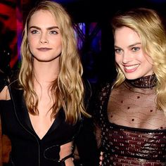Cara Delevingne & Margot Robbie  --Be your own Whyld Girl with a wicked tee today! http://whyldgirl.com/tshirts