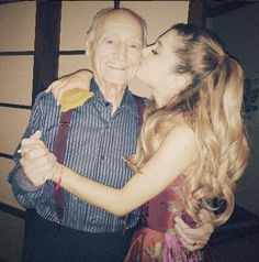 "Frankie looks JUST LIKE his grandpa>>.[via Ariana Grande's Instagram]  Sad news for the Grande family. After a long battle with cancer, Ariana Grande's grandfather has passed away. The ""Problem"" singer told fans through a series of tweets that would make even the coldest of souls tear up."