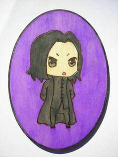Severus Snape Woodburning [and I don't like purple on mine] XD
