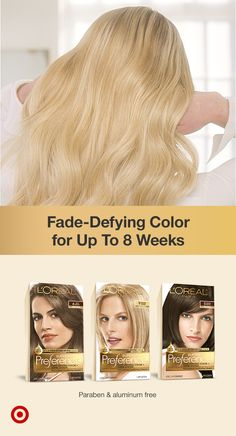 Get luxurious, permanent hair color with shine system that lasts up to 8 weeks with L'Oréal Paris Superior Preference. It includes a color protective conditioner formulated with camelina oil, anti-oxidant Vitamin E & UV filter. Suitable for all hair types - get vibrant, silky, shiny hair from root to tip. Red To Blonde, Shades Of Blonde, Light Blonde, At Home Hair Color, Red Hair Color, Skin Allergy Test, Liquid Hair, Champagne Blonde, Permanent Hair Color