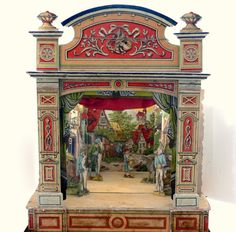 Antique Toy Theatre / Schreiber Paper Theater / by EitherOrFinds, $225.00