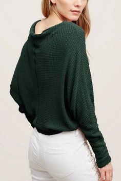 For fall, we're redefining sexy with this cozy sweater. It's a lightweight sweater made of comfortable material and designed with knitting. Just pair this with a skater skirt, nude tights and a pumps, and you could be out the door in minutes.