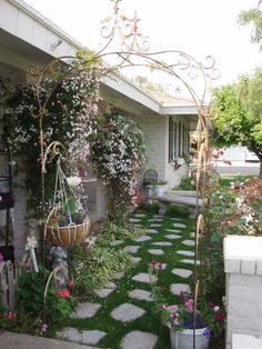 My front Porch in Arizona. I love flower gardens