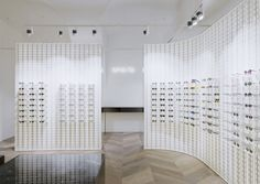 the austrian capital welcomes a second and rather palatial mykita outpost. Retail Me, Retail Space, Visual Merchandising, Eyewear Shop, Parquet Flooring, Vienna Austria, Design Furniture, Glass House, Retail Design