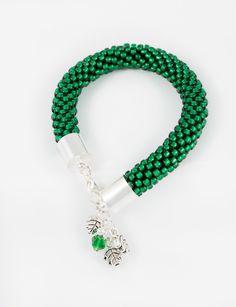 Bead crochet bracelet IV by nymphaeInat.deviantart.com on @DeviantArt